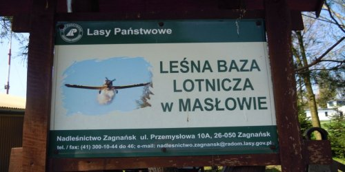 2017-10-04 Wizyta w Leśnej Bazie Lotniczej w Masłowie
