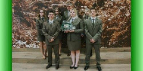 02-04-2019 Nasza szkoła z tytułem wicemistrza V Ogólnopolskiego Konkursu Języka Niemieckiego Szkół Leśnych