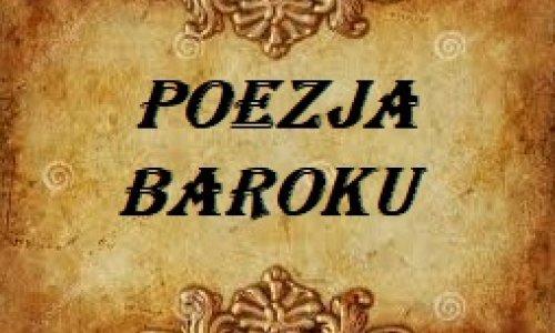 Poezja barokowa inspiracją uczniów klas II